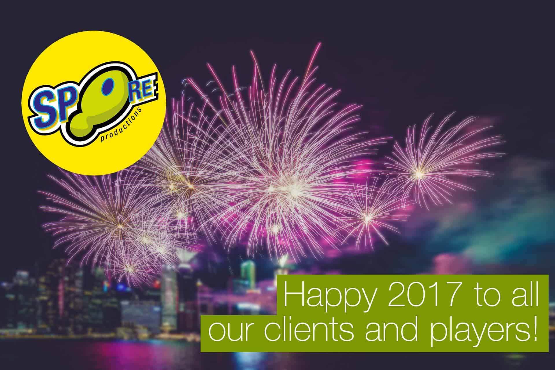 Happy 2017 new year from SPORE Productions